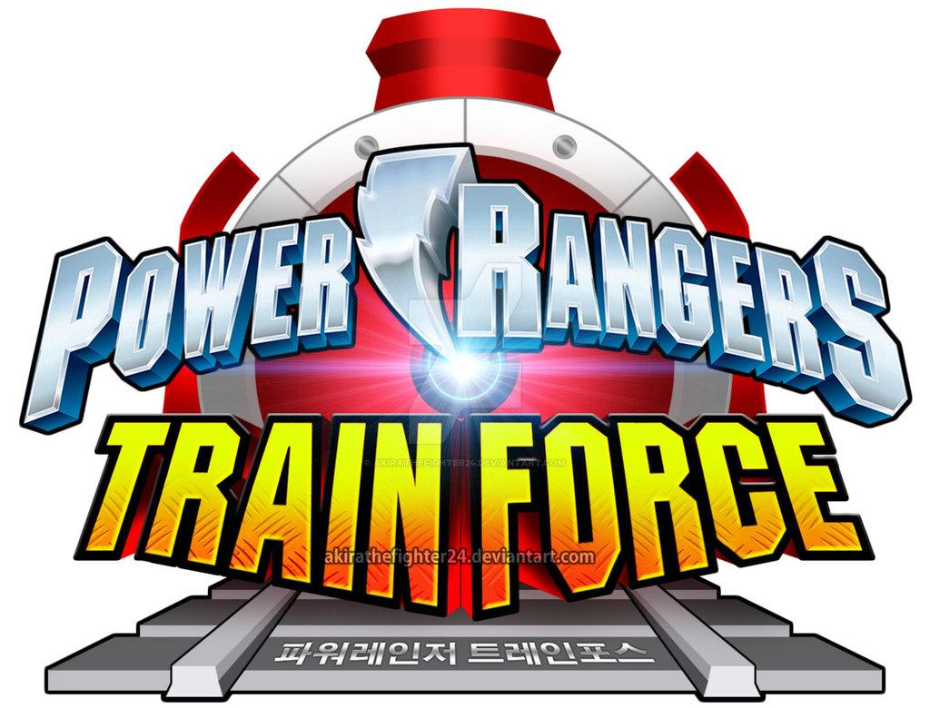 1024x780 Power Rangers Train Force English Logo (Fanmade) By