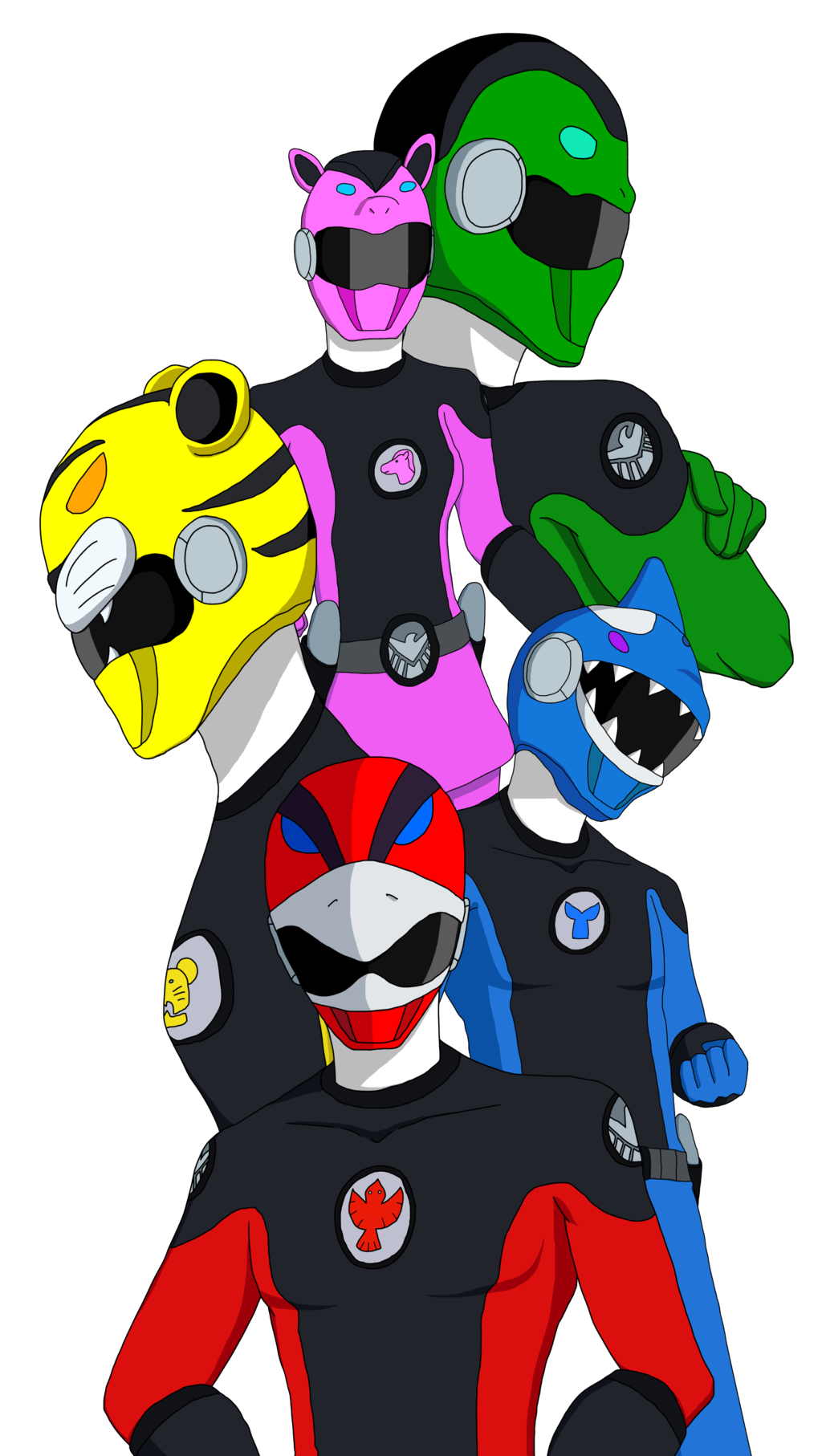 1024x1814 Power Rangers Favourites By Mcsaurus