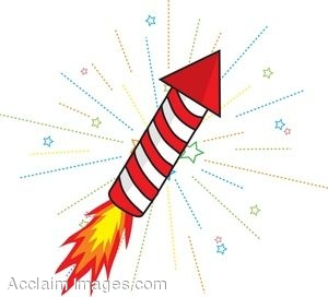 300x272 Clip Art Picture Of Rocket With Fireworks