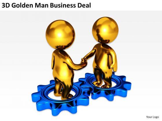 560x420 Business People Clip Art Men Golden Man Powerpoint Presentation