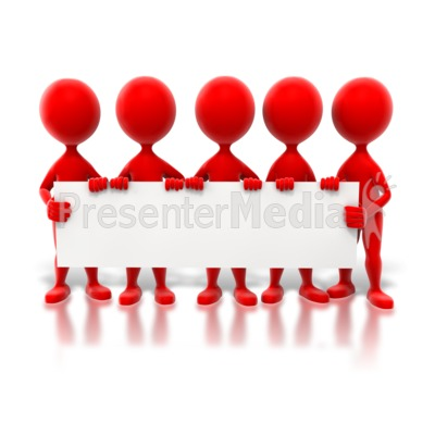 400x400 Colored Stick Figures Holding Sign Powerpoint Clip Art Stick