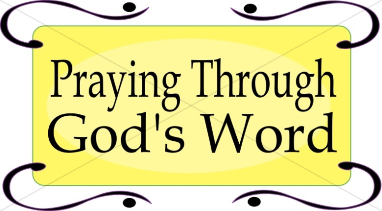 776x430 Praying Through Gods Word Prayer Clipart
