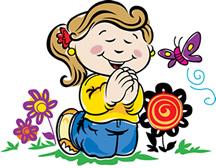 216x168 Child Praying Clipart