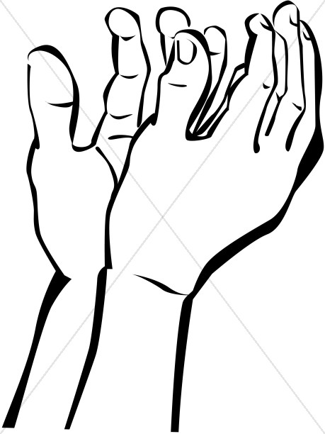 459x612 Hands Outstretched In Prayer To Heaven Prayer Clipart