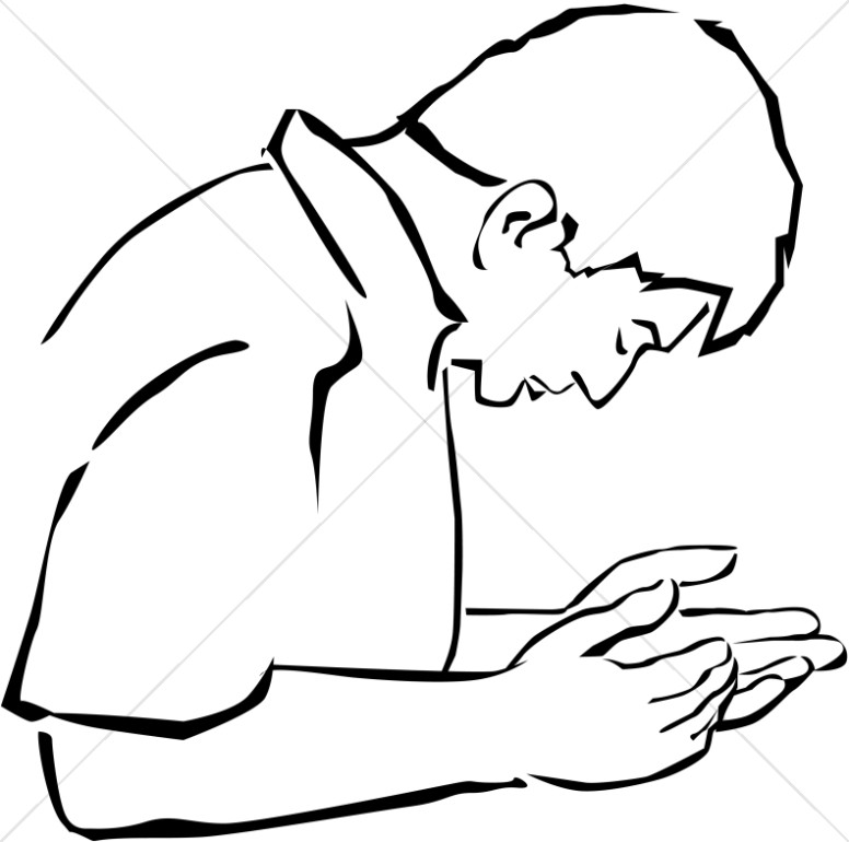 776x770 Man Cupping Hands In Supplication Prayer Clipart