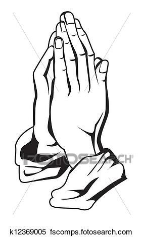 283x470 Clipart Of Prayer Hand K12369005