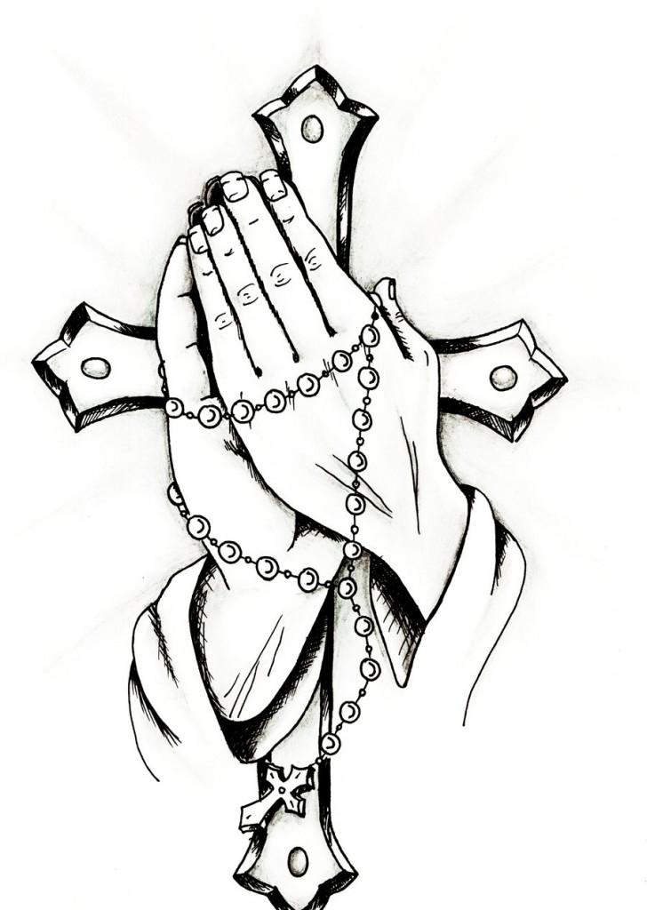 728x1024 Praying Hands Clipart
