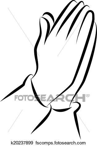 314x470 Stock Illustration Of Praying Hands Clip Art K20237899