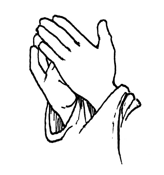 549x586 Praying Hands Open Clipart Wikiclipart