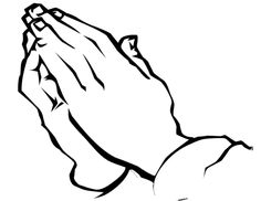 Prayer Hands Outline