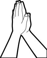 153x190 Prayer Black And White Clipart