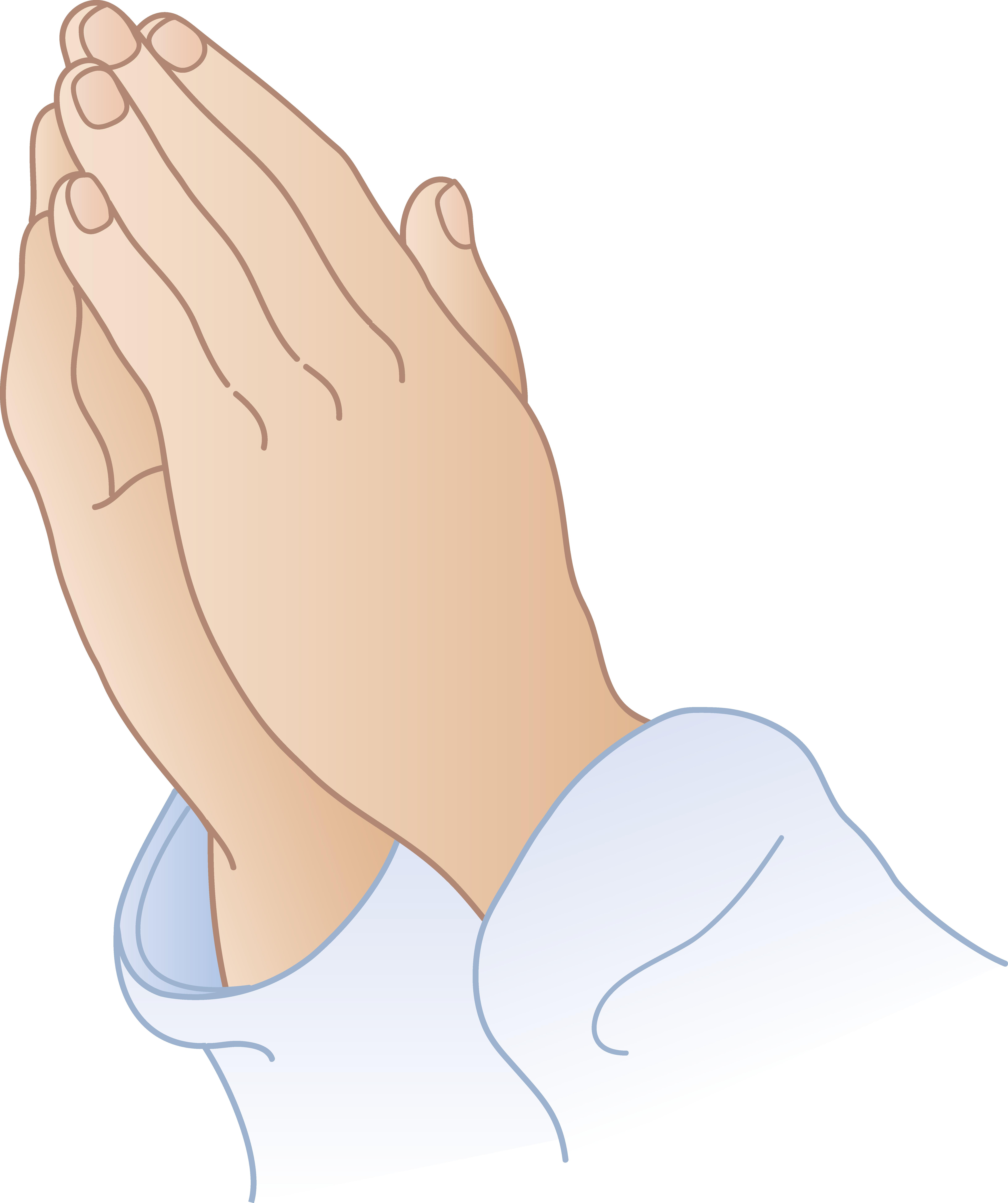 6530x7791 Praying Hands Clipart