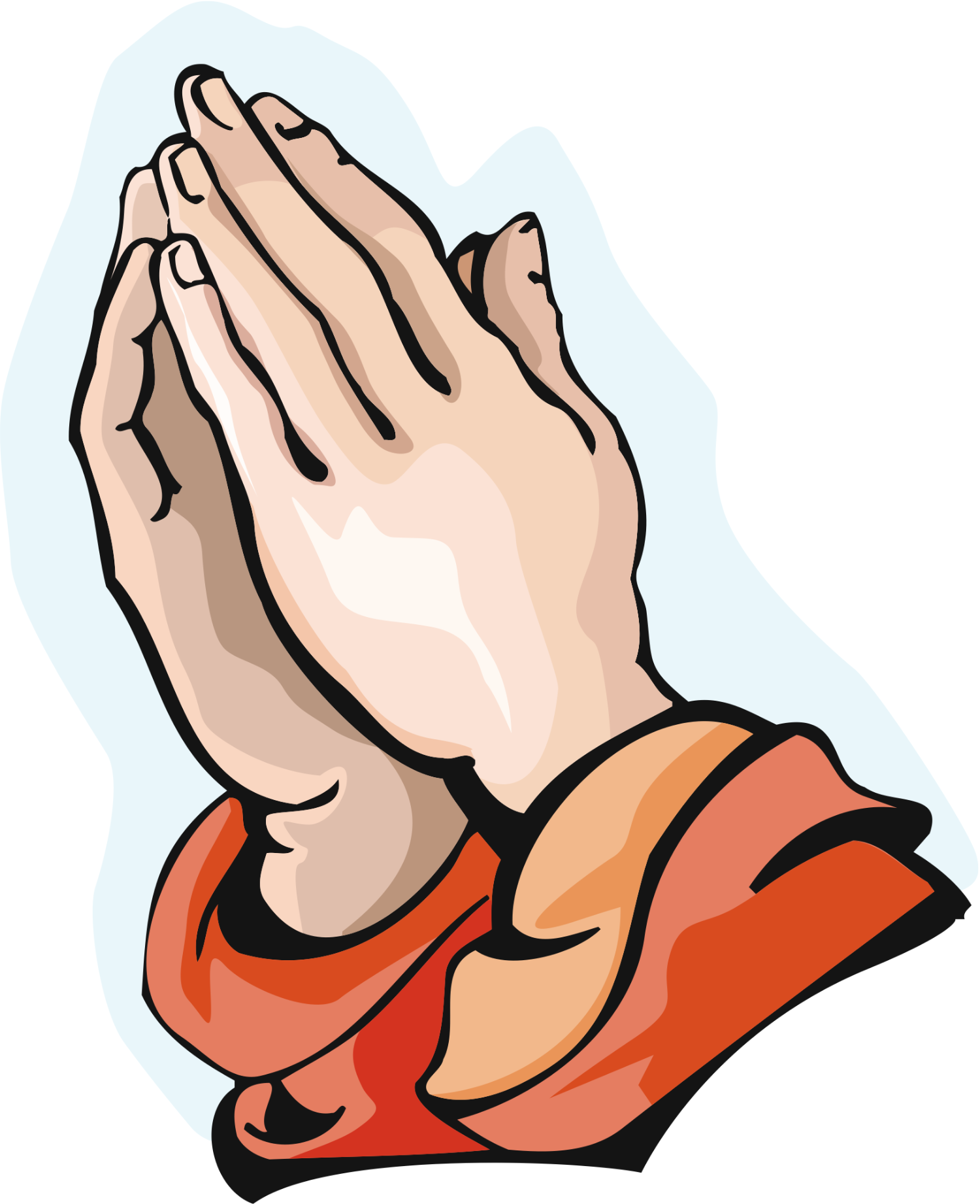 1500x1842 Prayer Hands With Rosary Clipart