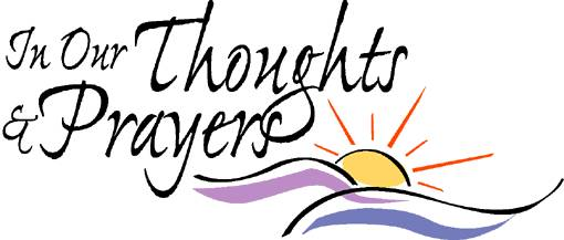 510x217 Thoughts And Prayers Clipart