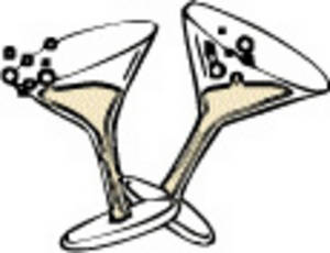 300x230 Clipart Picture Of Two Glasses Of Champagne