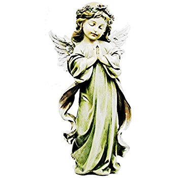 350x350 Napco Little Girl Praying Angel With Wings Garden