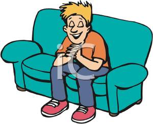 300x244 Free Clipart Image A Boy Sitting On A Couch And Praying
