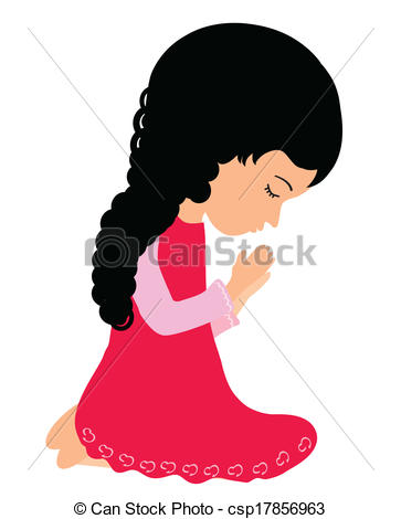 363x470 Girl Praying Clipart