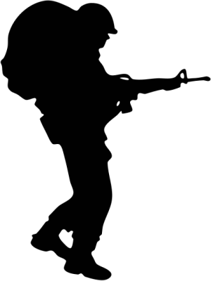 300x400 Soldier Praying Clipart