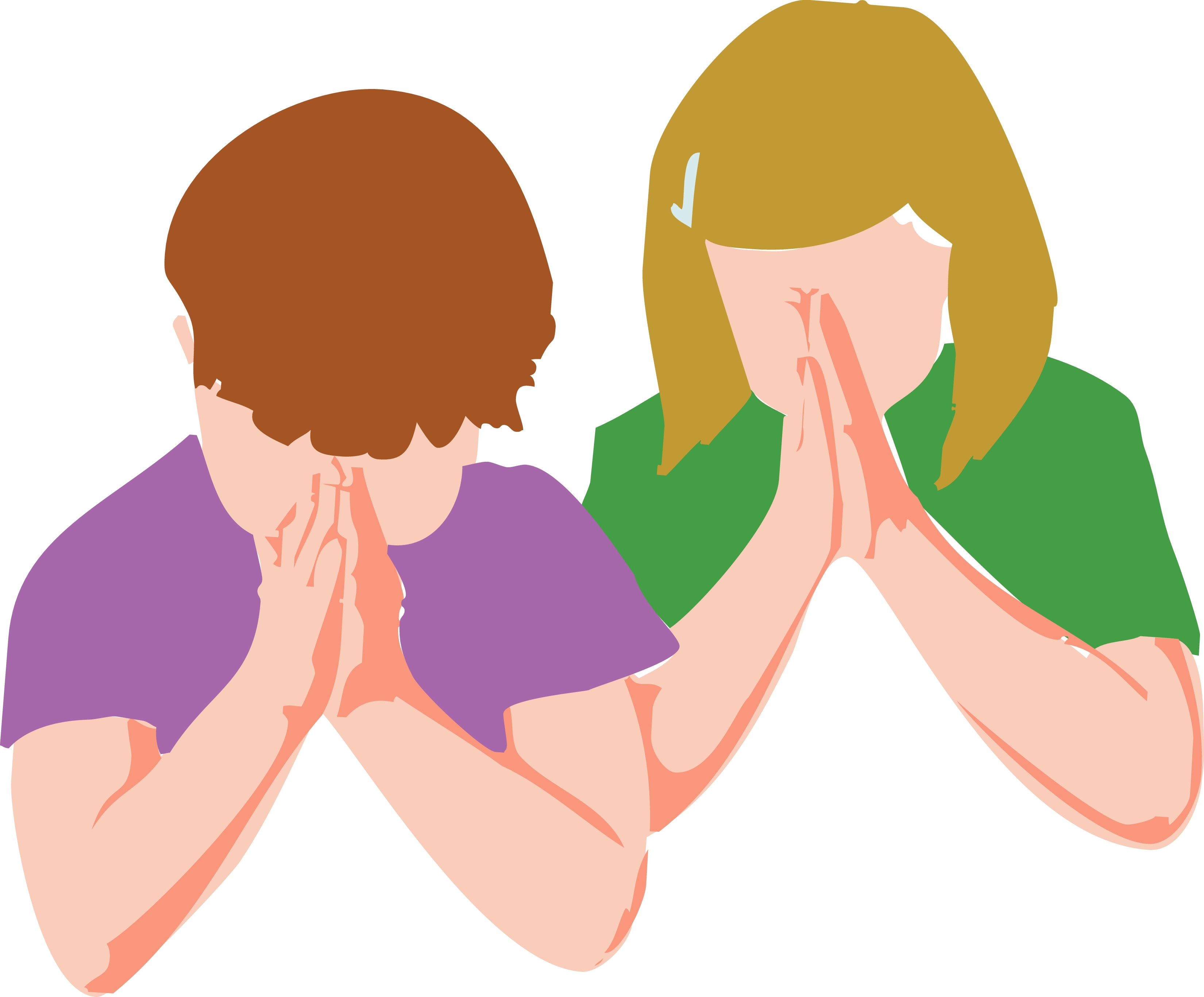 3300x2733 Image Of Children Praying Clipart