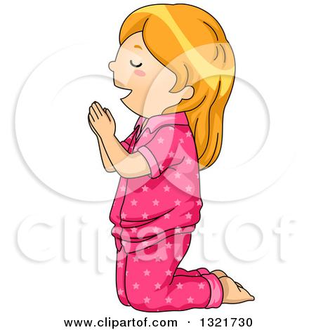 450x470 Girl Praying Clipart