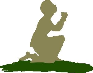 300x235 Kneeling Praying God Clip Art