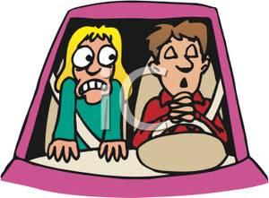 300x221 Scared Girl Watching A Boy Praying While Driving