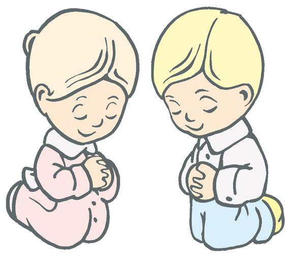 576x500 Child Praying Clipart