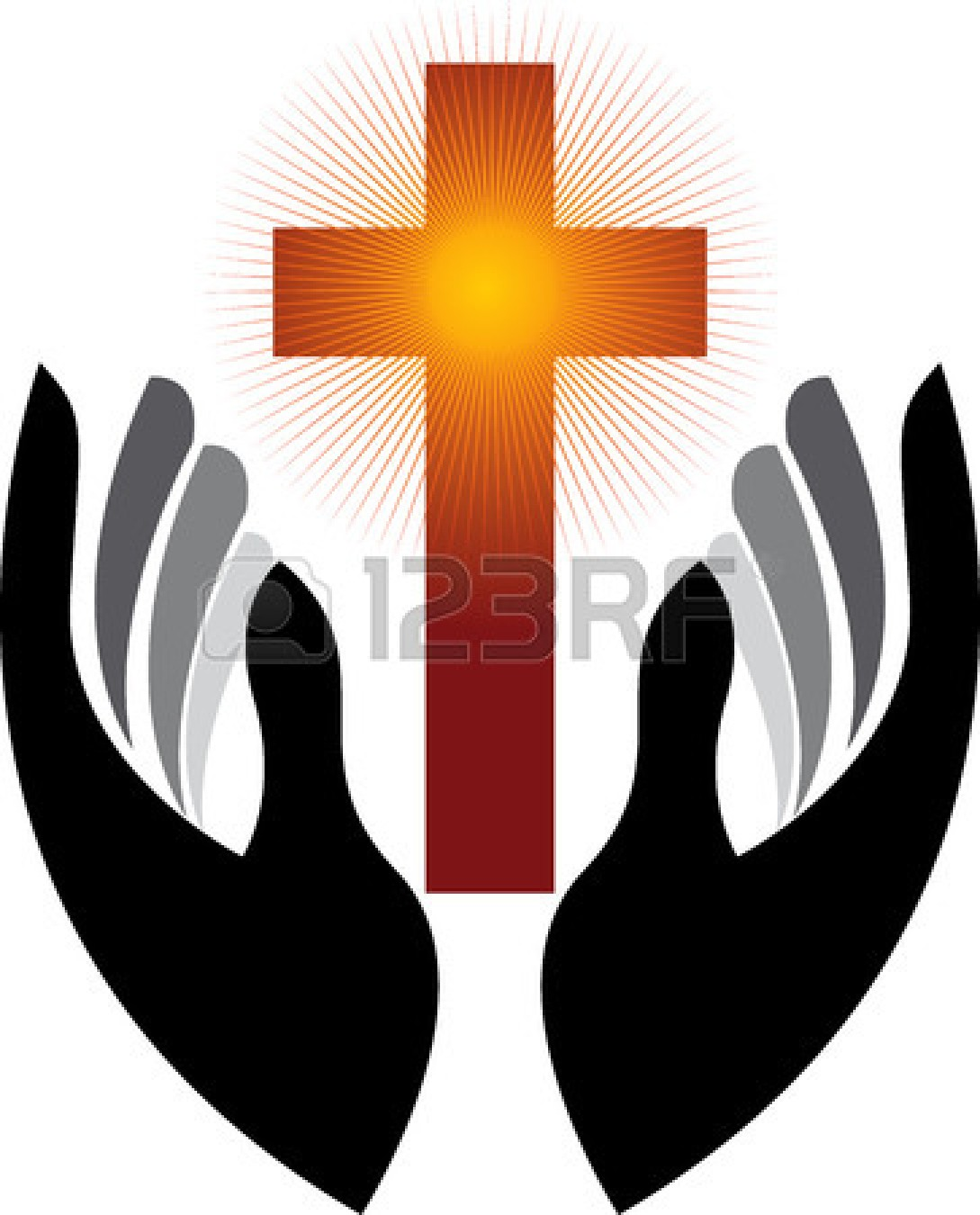 1089x1350 Cross With Praying Hands Clipart