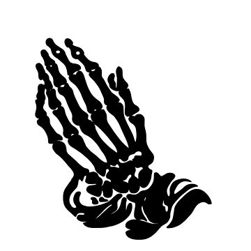 360x360 Drake Skeleton Praying Hands Tri Blend T Shirt By Slugworm