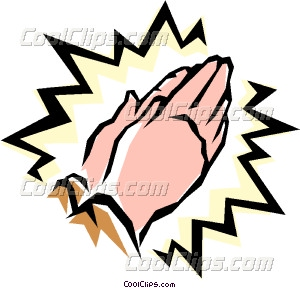 300x288 Praying Hands Vector Clip Art