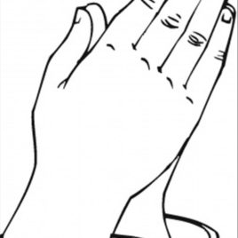 268x268 Printable Praying Hands Az Coloring Pages Coloring Page For Hand