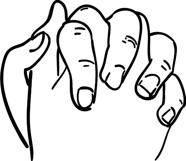 600x518 Coloring Pages Praying Hands