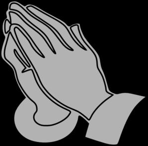 298x294 Gray Praying Hands Clip Art