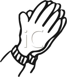 260x300 Praying Hands Black And White Clipart