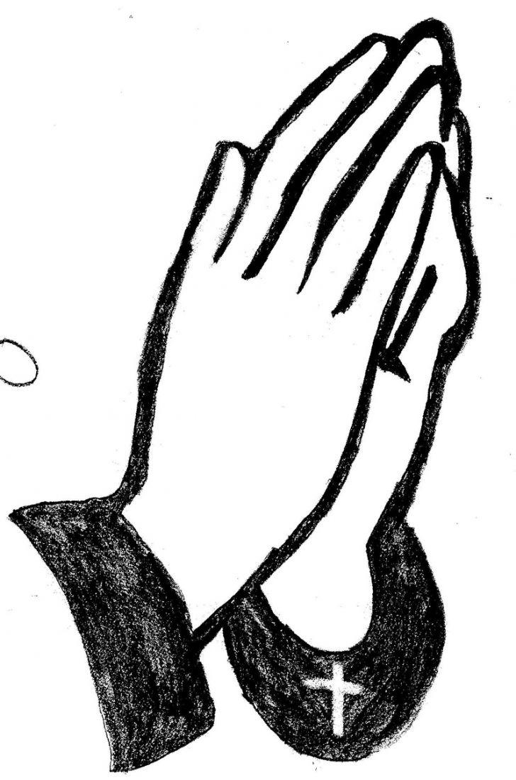 728x1100 Top Vector Praying Hands Clipart Best Drawing