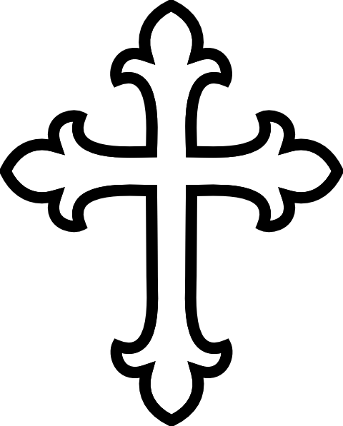 480x597 Cross With Praying Hands Clipart