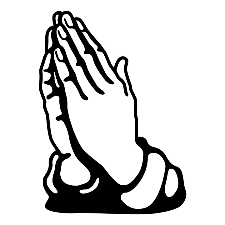720x720 Black And White Praying Hands