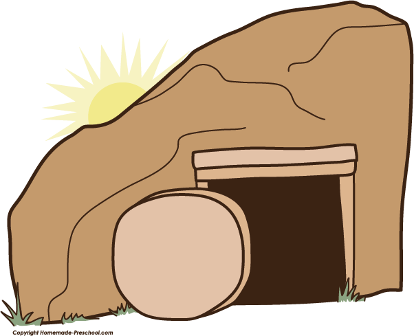 602x489 Clip Art Empty Tomb Church Bible And Scroll Praying Hands