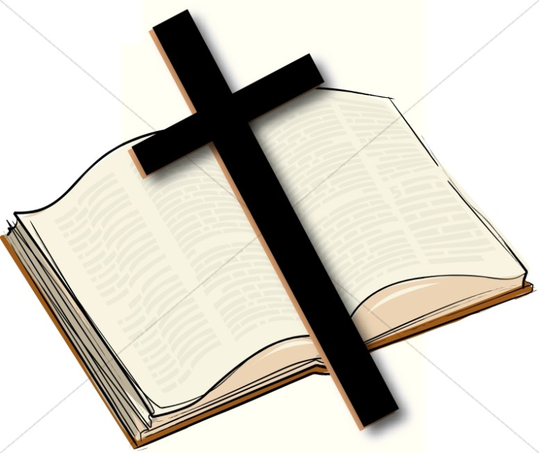 776x653 Clipart bible and cross