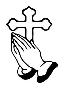 215x300 LARGE CROSS PRAYING HANDS RELIGOUS BIBLE Vinyl Car Decal Sticker
