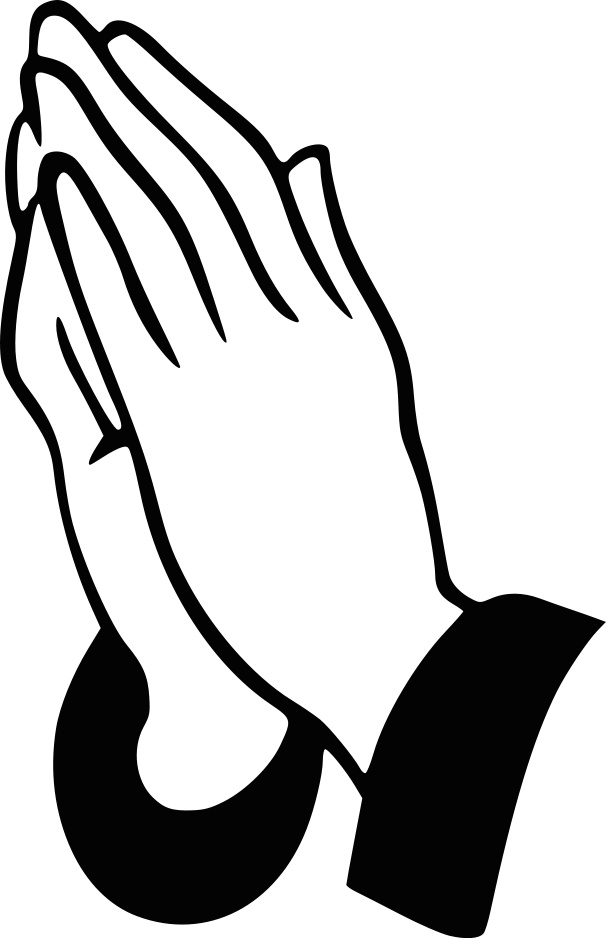 606x938 Praying Hands Clip Art