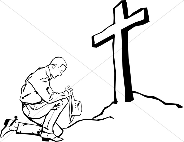 776x601 Praying Cowboy Clipart