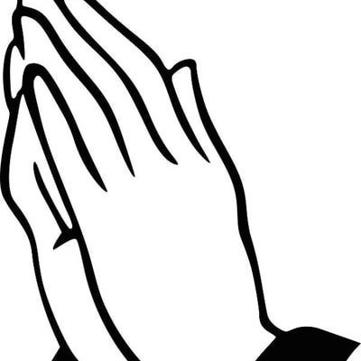 400x400 Praying Hands Coloring Page. Praying Hands Pages To Color