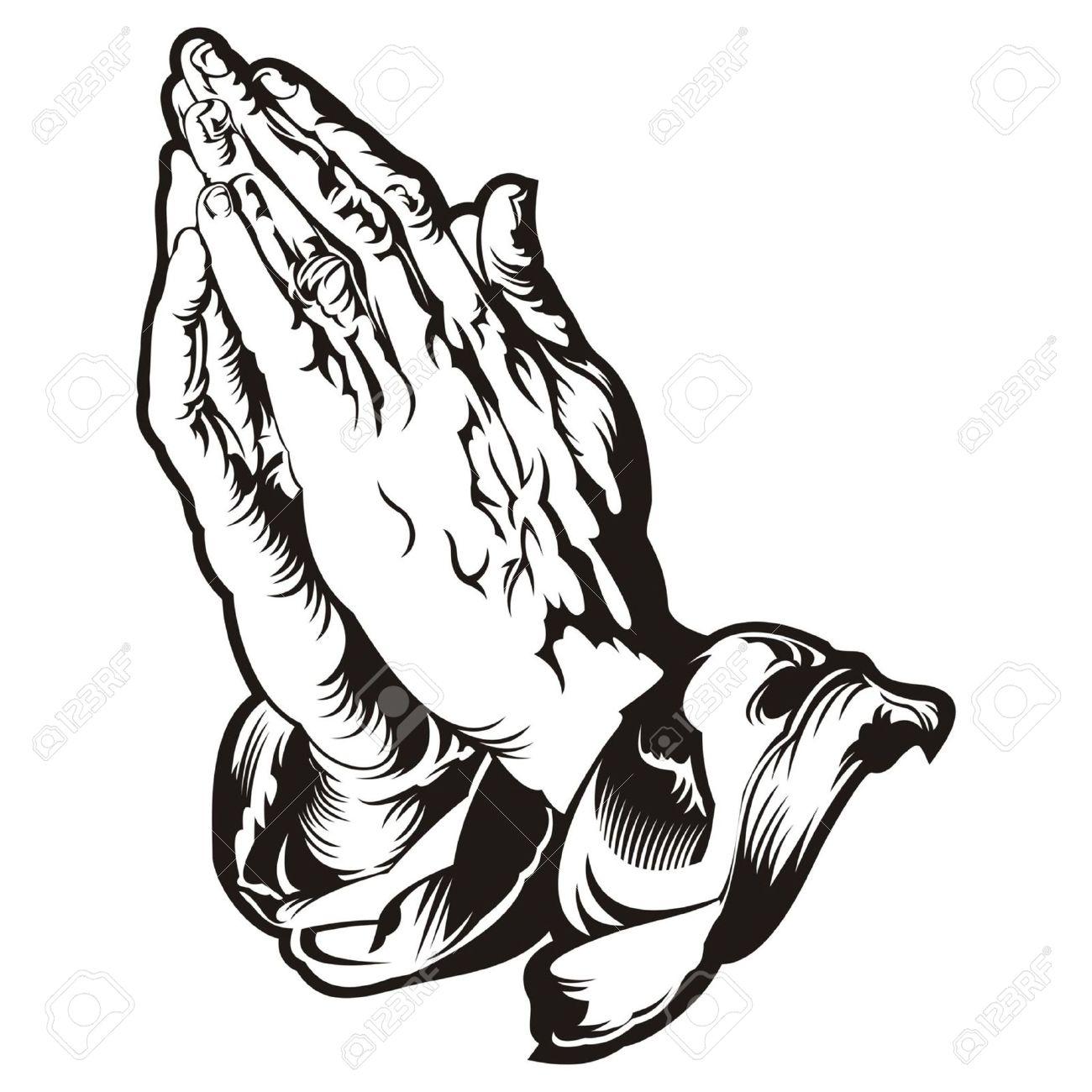 1300x1300 Praying Hands Tatto Vector Royalty Free Cliparts, Vectors,