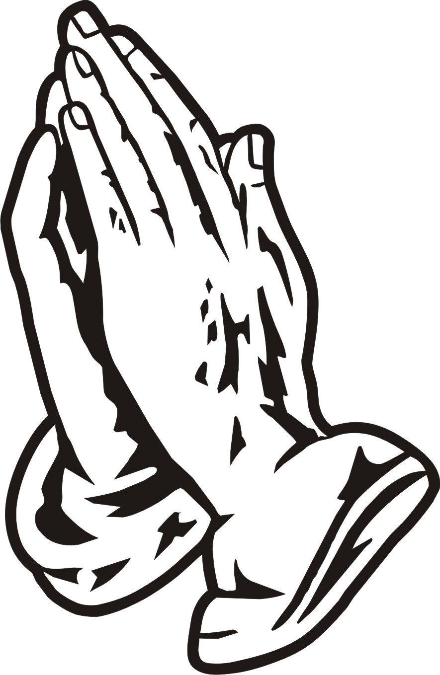 885x1359 Free Clipart Praying Hands 3