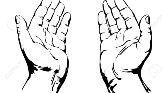 570x320 Praying Hands Line Drawing Praying Hands Clipart Praying Hands