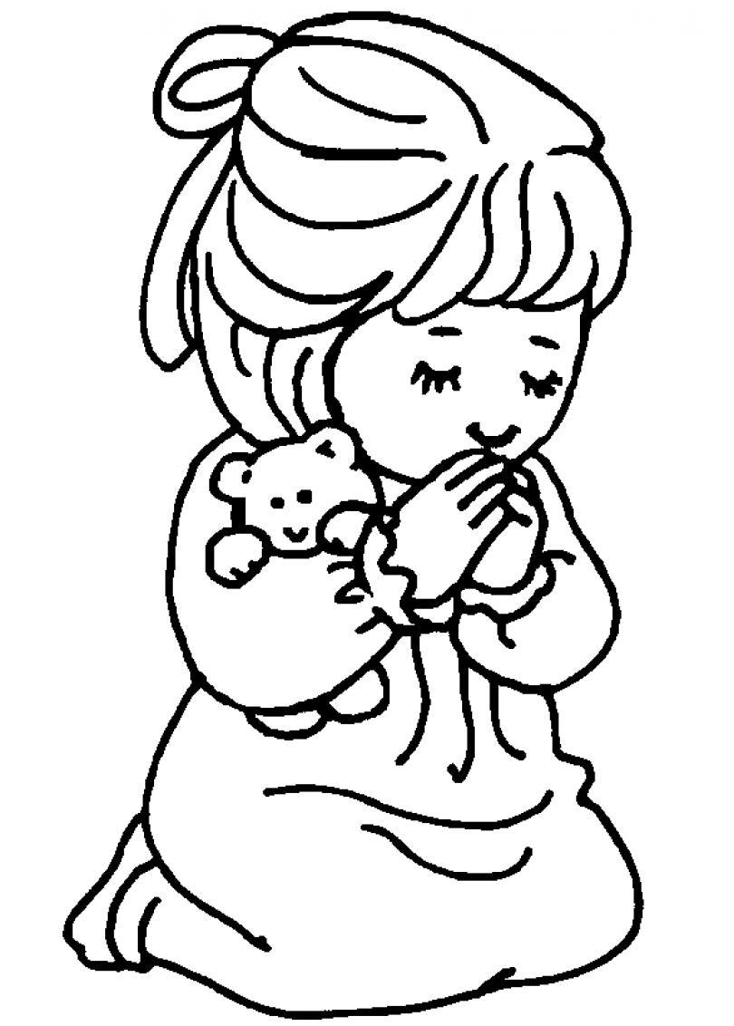 810x1132 Children Praying Coloring Page Clipart Panda