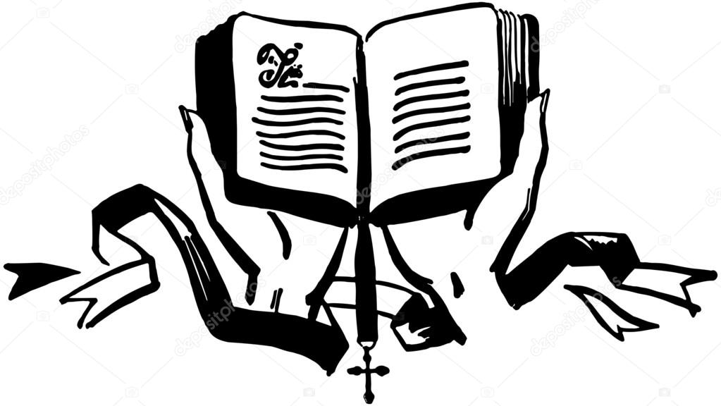 1023x576 Hands Holding Open Bible Stock Vector Retroclipart