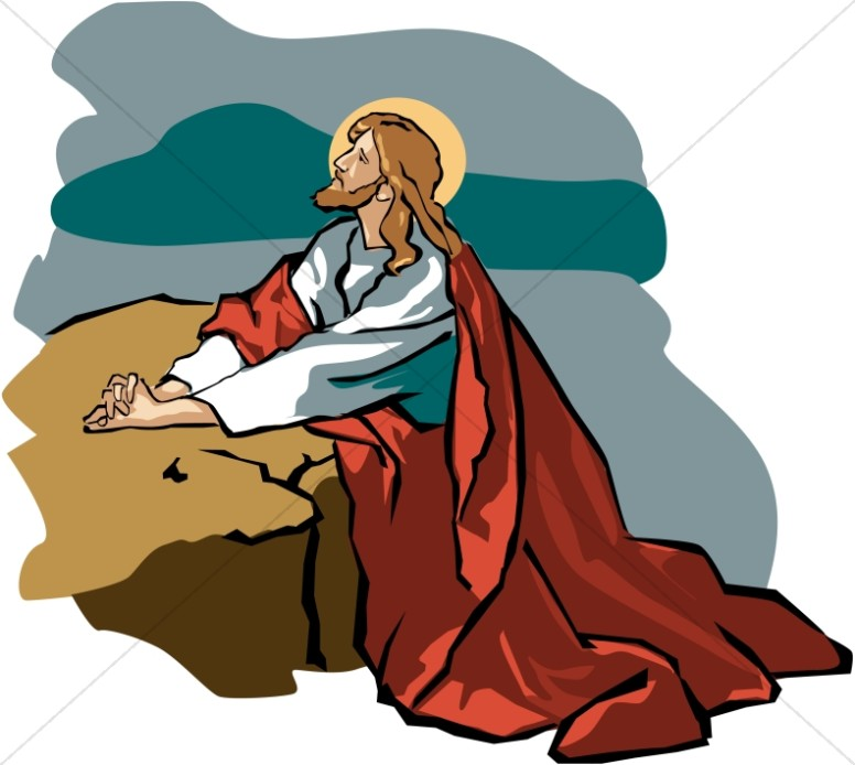 776x694 Jesus In The Garden Of Gethsemane In Black And White Jesus Clipart